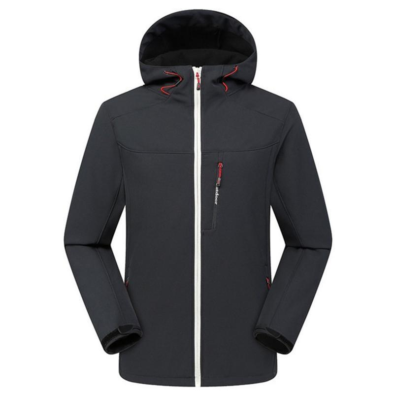 秋冬戶外衝鋒衣定製logo加絨加厚軟殼衣登山服