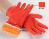 包边绒里保暖乳胶手套