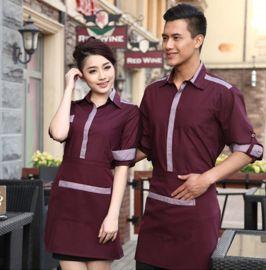 上海厂家供应秋装新款酒店装工作服定做男女餐厅服务员工装制服