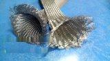 扁平不锈钢编织网套,防腐蚀不锈钢丝编织带规格