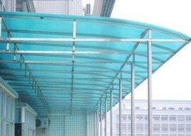 深圳厂家订制户外遮阳棚加厚雨棚停车棚/阳光板耐力板雨棚