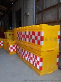 供应北京交通设施防撞桶厂家 滚塑防撞桶价格 方形防撞墩水马 方块防撞墩水马