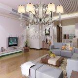 歐式現代鐵藝水晶吊燈客廳餐廳臥室吊燈6616