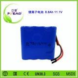 11.1V ICR18650 8.8AH锂电池组可充电