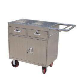 不锈钢餐车_送餐车_二层推车—东安不锈钢