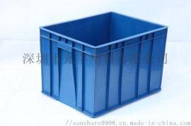 食品冷库加厚塑料周转箱带盖工具箱斜插式物流运输箱