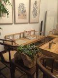 成都新中式定製 免漆老榆木客廳沙 定做白茬燙蠟傢俱