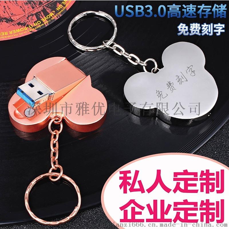 创意金属u盘 米奇u盘 USB閃存盤 隨身碟客制化