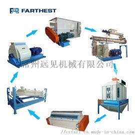 远见机械畜禽膨化饲料生产线 饲料机组 全套饲料设备