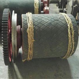 630主驱动滚筒总成 皮带机滚筒 带齿轮驱动滚筒