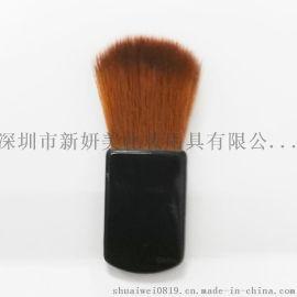 新妍美厂家供应黑色胶柄腮红刷粉底刷扁刷 化妆品配套刷子 化妆扫