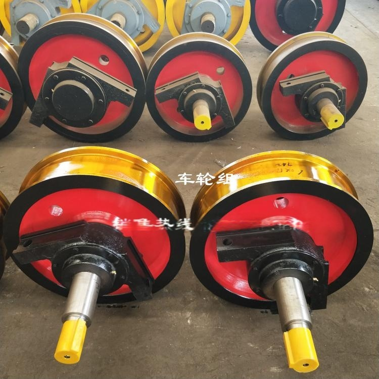 鑄鋼50矽錳材質車輪組批發 直徑800行車輪價格 天車法蘭盤角箱輪