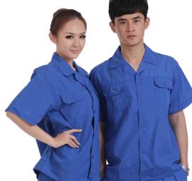 深圳工作服勞保服廠服工裝短袖 夏季定做工衣