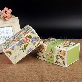 厂家现货可定制印刷图案长方形可折叠通用牛轧糖食品牛皮纸包装盒