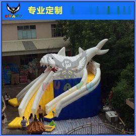 大型移动水上乐园水上玩具支架水池充气大滑梯大白鲨滑梯水上乐园