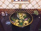 廠家衛浴圓形手繪彩色陶瓷洗面洗手盆臺上盆藝術盆
