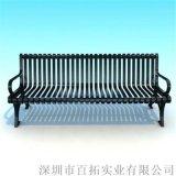 广东公共户外休闲椅铸铁椅脚公园椅景区长椅