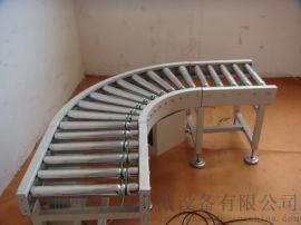 辊筒转弯输送机铝型材 水平输送滚筒线