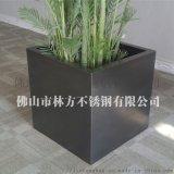 厂家定做彩色不锈钢花盆 黑钛组合花箱加工