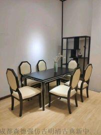 成都禅意新中式家具,古典船木家具,黑胡桃古典家具