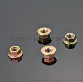 六角防滑螺母碳钢Q215法兰螺母