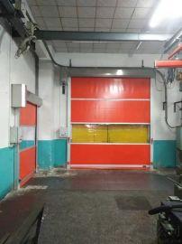车库pvc快速卷帘门铝合金抗风条快速门