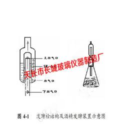 玻璃仪器 发酵栓结构及酒精发酵装置 150m