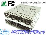 SFP连接器,2x4无导光柱,SFP 2X4 CAGE 压接式