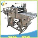 山东K鱼片上浆机 鱼片裹面包糠机器 自动上浆裹糠机