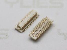 电路板连接器0.50mm 板对板 公座单槽带柱