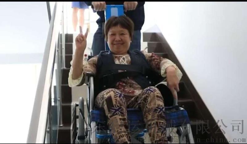 室外殘疾人手推車爬樓機啓運西安市電動輪椅爬樓車