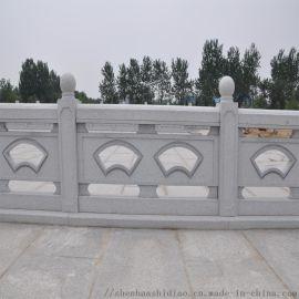 厂家直销汉白玉栏板 仿古护城河防护石雕栏杆