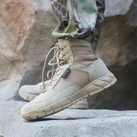 户外登山鞋男真皮防水防滑春夏经典 迷高帮徒步鞋沙漠靴超轻耐磨