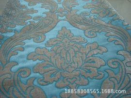 欧式雪尼尔提花布沙发布窗帘面料 仿黏胶加厚雪尼尔布料厂家生产