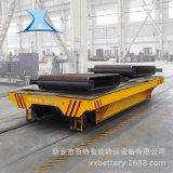 过跨轨道平板车搬运精密测试设备专用电动轨道平车