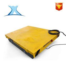铁水包作业防爆耐高温锂电池供电卷线式电平车拖电缆轨道平车