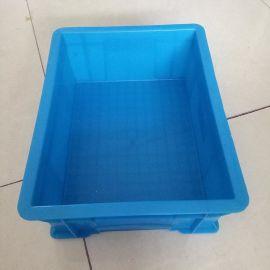 供应塑料周转箱 全新料现货标准尺寸 蓝色快递物流周转箱批发