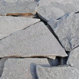 厂家批发 灰色碎拼石 园林铺地乱形石英 天然灰石英片石