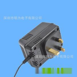 廠家供應插牆式英規電源適配器 CE認證三支銅電源