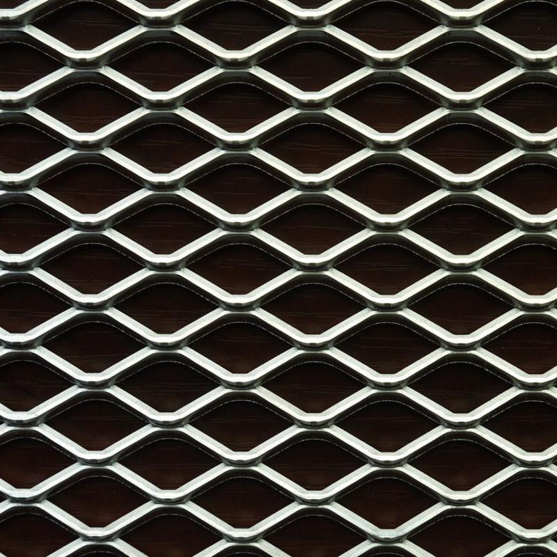 拉伸菱形金属网 踏步承重铁板网 建筑菱形钢板网