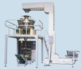 全自动称重膨化食品包装机 速冻零食电子自动计量包装机