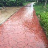 上海桓石彩色水泥混凝土压模地坪专用材料供应、橡胶模具可定制模具、仿石仿木仿砖压花地坪路面材料 彩色水泥压模路面