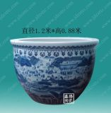 供应手绘青花1.2米陶瓷大缸 景德镇陶瓷