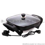 廠家直銷立的LD-308多功能電熱鍋無煙不粘電炒鍋韓式方鍋特價批發
