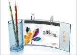 有机玻璃相框台历定做-亚克力水晶台历展示架-创意办公桌笔筒台历