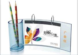 有機玻璃相框檯曆定做-亞克力水晶檯曆展示架-創意辦公桌筆筒檯曆