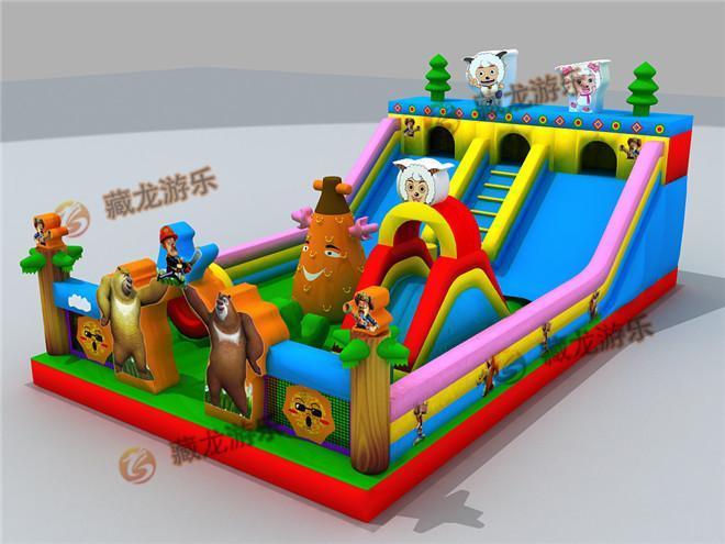 大型充气滑梯城堡 小型充气城堡蹦蹦床 儿童广场游乐玩具热卖