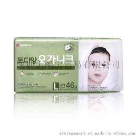韩国LG原装进口有机棉L纸尿裤 婴幼儿自然棉尿不湿  男  宝用