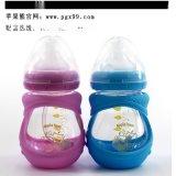 蘋果熊奶瓶廠家 供應新生兒寬口嬰兒奶瓶 150ML寶玻璃奶瓶批發