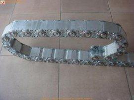 重庆可开孔金属  链整体式不锈钢工程钢制拖链油管保护链新品